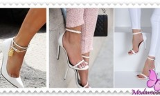 2019 Beyaz Topuklu Ayakkabı ve Sandalet Modelleri