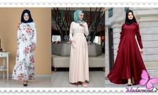 2019 İlkbahar Tesettür Elbise Modelleri