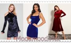 Kadife Abiye Modelleri