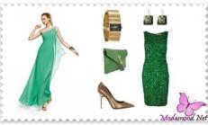 Çağla Yeşili Nişanlık Abiye Modelleri
