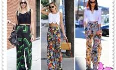 Çiçek Desenli Pantolon Kombinleri